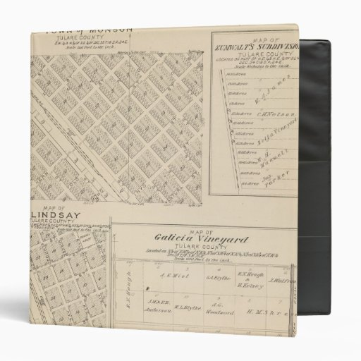 T16S R24E Tulare County Section Map Vinyl Binder