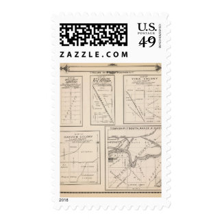 T17S R21E Tulare County Section Map Postage Stamps
