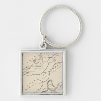 T17S R22E Tulare County Section Map Keychain