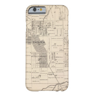 T17S R23E Tulare County Section Map Barely There iPhone 6 Case