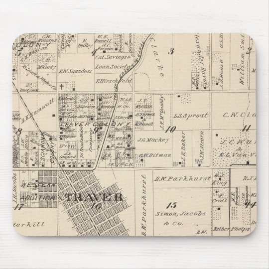 T17S R23E Tulare County Section Map Mouse Pad