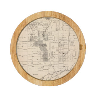 T17S R23E Tulare County Section Map Round Cheeseboard