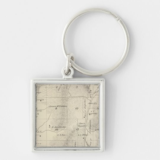 T17S R27E Tulare County Section Map Keychain
