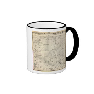 T17S R27E Tulare County Section Map Ringer Coffee Mug