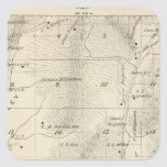 T17S R27E Tulare County Section Map Square Sticker