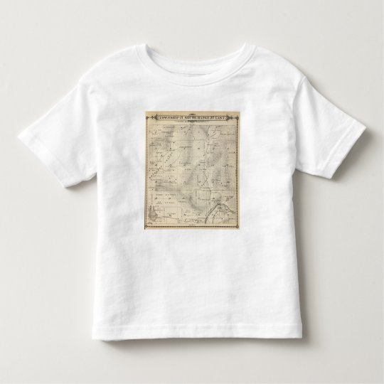 T17S R27E Tulare County Section Map Toddler T-shirt