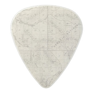 T1819S R2930E Tulare County Section Map Acetal Guitar Pick