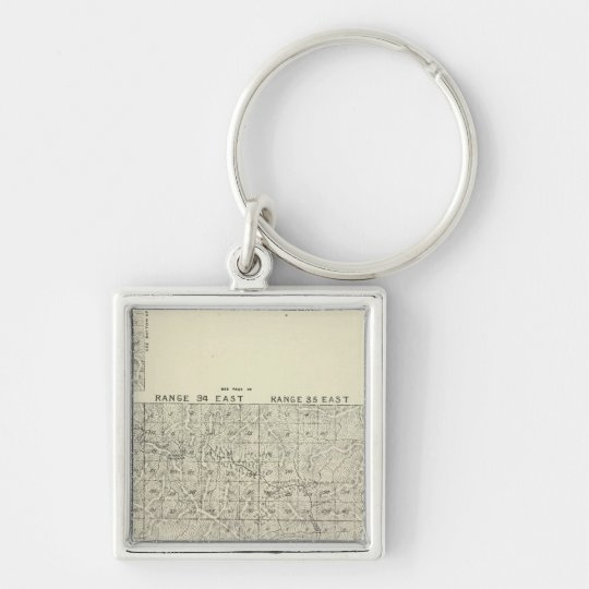 T1820S R3236E Tulare County Section Map Keychain