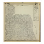 T1820S R3236E Tulare County Section Map Posters