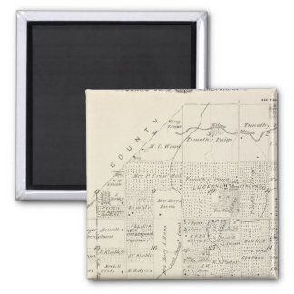 T18S R21E Tulare County Section Map Refrigerator Magnets