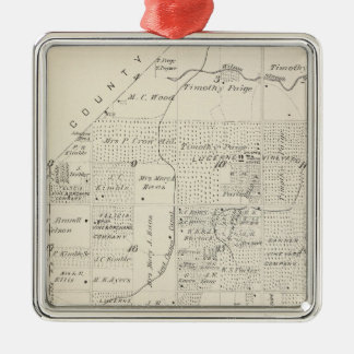 T18S R21E Tulare County Section Map Christmas Ornaments