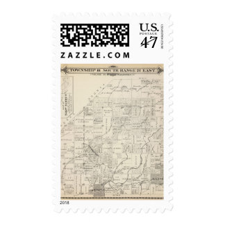 T18S R21E Tulare County Section Map Postage