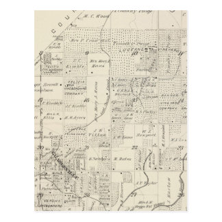 T18S R21E Tulare County Section Map Postcard