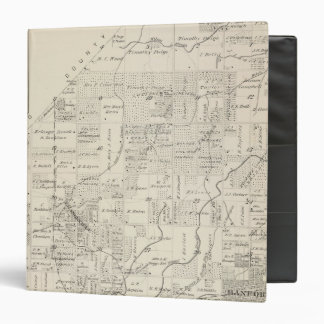 T18S R21E Tulare County Section Map Vinyl Binders