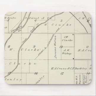 T18S R23E Tulare County Section Map Mouse Pad