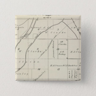 T18S R23E Tulare County Section Map Pinback Button