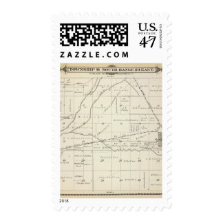 T18S R23E Tulare County Section Map Postage