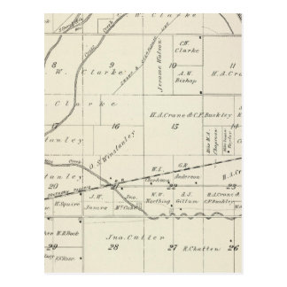 T18S R23E Tulare County Section Map Postcard