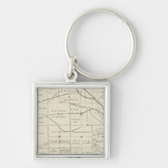 T18S R24E Tulare County Section Map Keychain