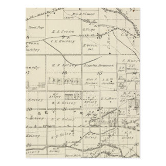 T18S R24E Tulare County Section Map Postcard