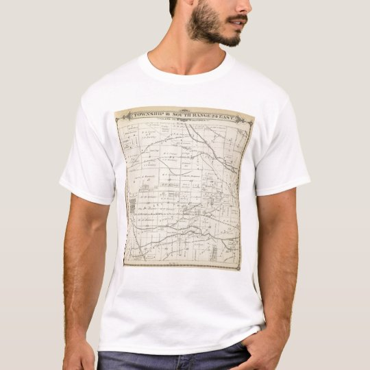 T18S R24E Tulare County Section Map T-Shirt