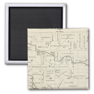 T18S R25E Tulare County Section Map 2 Inch Square Magnet