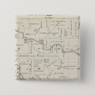 T18S R25E Tulare County Section Map Pinback Button
