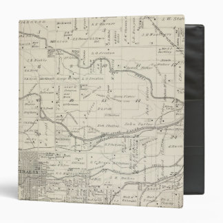 T18S R25E Tulare County Section Map Vinyl Binders