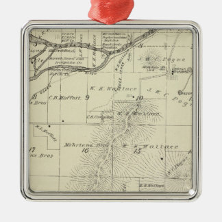 T18S R27E Tulare County Section Map Christmas Ornaments