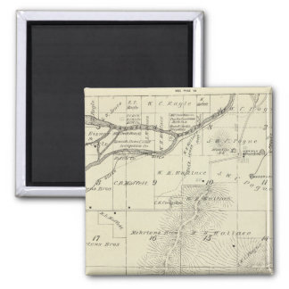 T18S R27E Tulare County Section Map Refrigerator Magnet