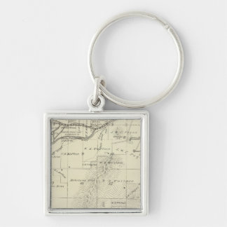 T18S R27E Tulare County Section Map Keychains
