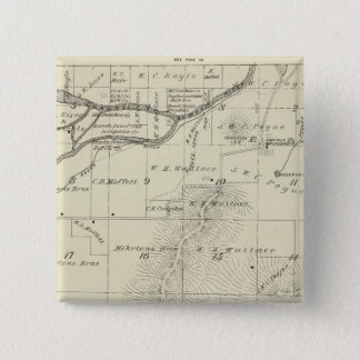 T18S R27E Tulare County Section Map Pinback Button