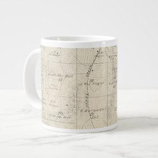 T18S R28E Tulare County Section Map 20 Oz Large Ceramic Coffee Mug