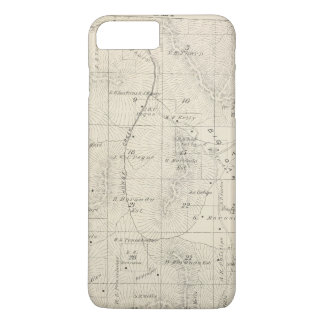 T18S R28E Tulare County Section Map iPhone 8 Plus/7 Plus Case
