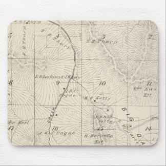 T18S R28E Tulare County Section Map Mouse Pad