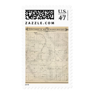 T18S R28E Tulare County Section Map Postage