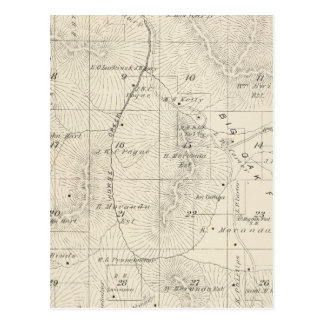 T18S R28E Tulare County Section Map Postcard
