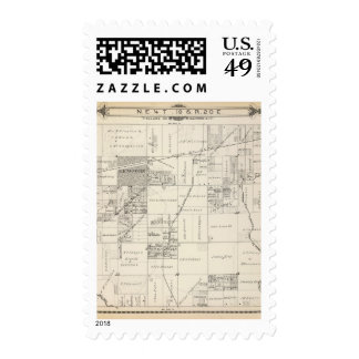 T19S R20E NE 1/4 Tulare County Section Map Stamps