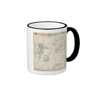 T19S R20E NE 1/4 Tulare County Section Map Ringer Coffee Mug