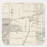 T19S R20E NE 1/4 Tulare County Section Map Square Sticker