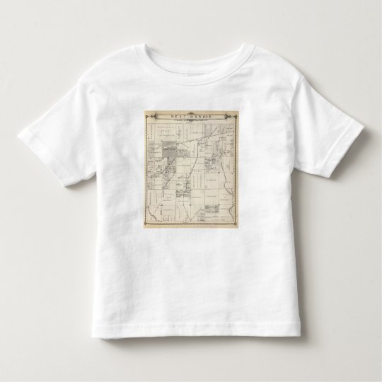 T19S R20E NE 1/4 Tulare County Section Map Toddler T-shirt