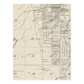 T19S R20E Tulare County Section Map Postcard