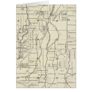 T19S R21E Tulare County Section Map Greeting Cards