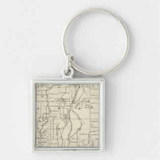 T19S R21E Tulare County Section Map Key Chain
