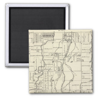 T19S R21E Tulare County Section Map Refrigerator Magnet