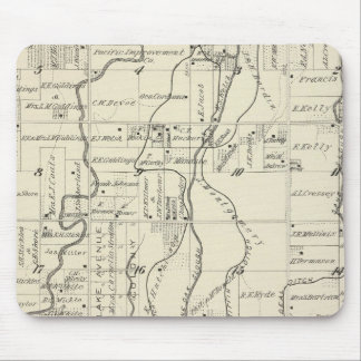 T19S R21E Tulare County Section Map Mousepad