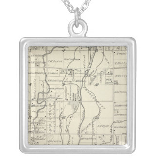 T19S R21E Tulare County Section Map Custom Necklace