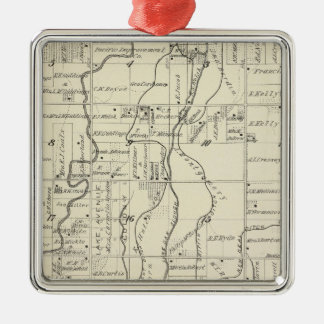 T19S R21E Tulare County Section Map Christmas Tree Ornament