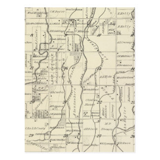 T19S R21E Tulare County Section Map Post Cards