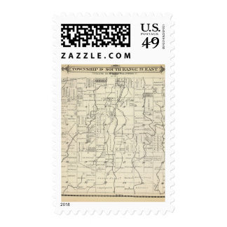 T19S R21E Tulare County Section Map Stamp